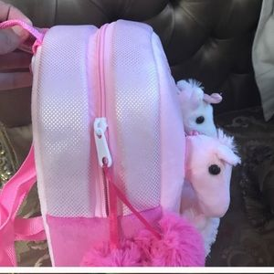 Other - Pretty plush animal Backpack for  princess toddler